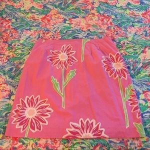 Lilly pink skirt w flowers